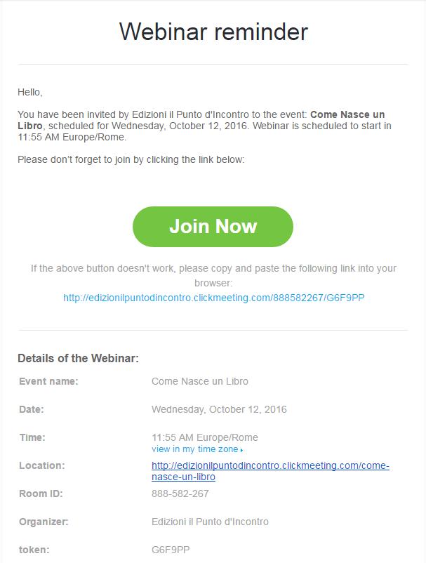 Email di promemoria