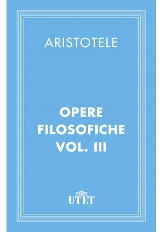 eBook: Opere filosofiche. Vol. III