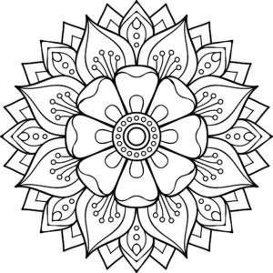 mindfulness mandala da colorare